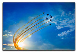 Aerobatic team performs flight Canvas Print or Poster  - Canvas Art Rocks - 1