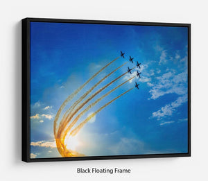 Aerobatic team performs flight Floating Frame Canvas