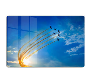 Aerobatic team performs flight HD Metal Print