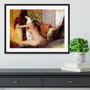 After bathing 2 by Degas Framed Print - Canvas Art Rocks - 1