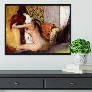 After bathing 2 by Degas Framed Print - Canvas Art Rocks - 2