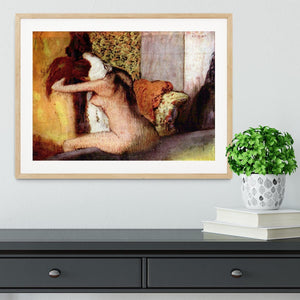 After bathing 2 by Degas Framed Print - Canvas Art Rocks - 3