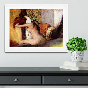 After bathing 2 by Degas Framed Print - Canvas Art Rocks - 5