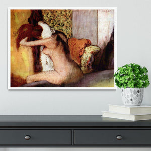 After bathing 2 by Degas Framed Print - Canvas Art Rocks -6
