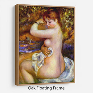 After the bath by Renoir Floating Frame Canvas