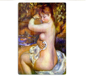After the bath by Renoir HD Metal Print