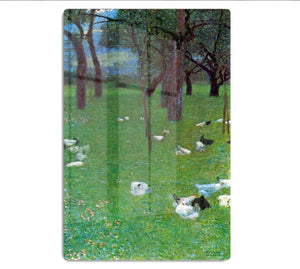 After the rain garden with chickens in St. Agatha by Klimt HD Metal Print