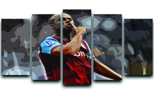 Agbonlahor Aston Villa 5 Split Panel Canvas  - Canvas Art Rocks - 1