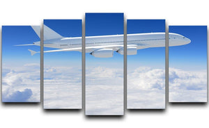 Airplane in the sky 5 Split Panel Canvas  - Canvas Art Rocks - 1