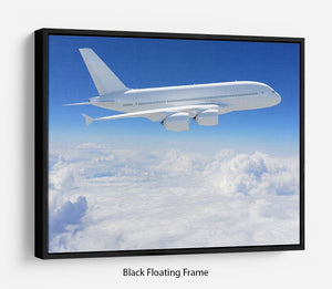 Airplane in the sky Floating Frame Canvas