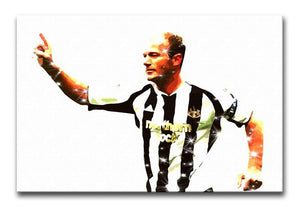Alan Shearer Newcastle Goal Hero Print - Canvas Art Rocks - 1
