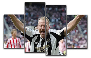 Alan Shearer 4 Split Panel Canvas  - Canvas Art Rocks - 1
