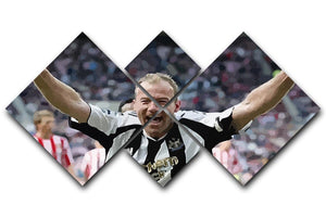 Alan Shearer 4 Square Multi Panel Canvas  - Canvas Art Rocks - 1