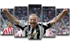 Alan Shearer 5 Split Panel Canvas  - Canvas Art Rocks - 1