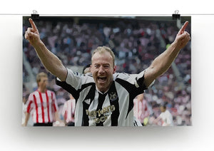 Alan Shearer Print - Canvas Art Rocks - 2