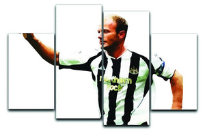 Alan Shearer Newcastle Goal Hero 4 Split Panel Canvas  - Canvas Art Rocks - 1