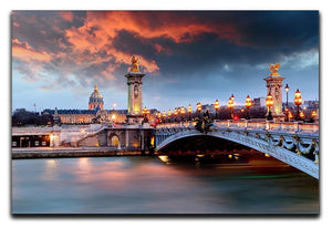 Alexandre 3 Bridge Canvas Print or Poster  - Canvas Art Rocks - 1