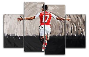 Alexis Sanchez 4 Split Panel Canvas  - Canvas Art Rocks - 1