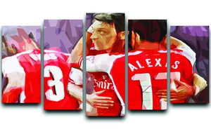Alexis Sanchez and Mesut Ozil 5 Split Panel Canvas  - Canvas Art Rocks - 1