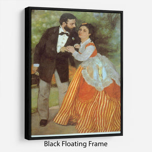 Alfred Sisley by Renoir Floating Frame Canvas