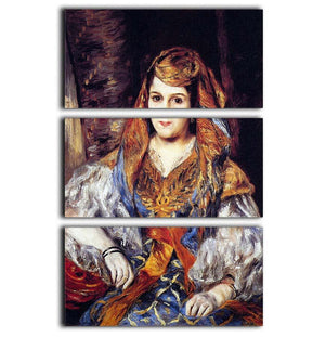 Algerian Woman by Renoir 3 Split Panel Canvas Print - Canvas Art Rocks - 1