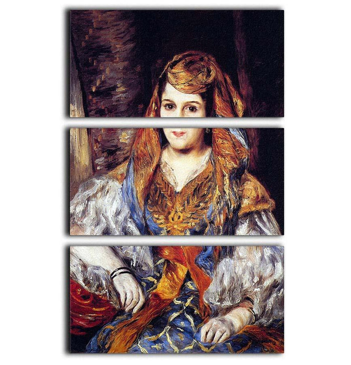 Algerian Woman by Renoir 3 Split Panel Canvas Print