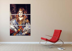 Algerian Woman by Renoir 3 Split Panel Canvas Print - Canvas Art Rocks - 2