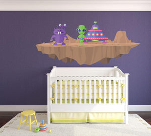 Alien Planet Wall Sticker - Canvas Art Rocks - 1