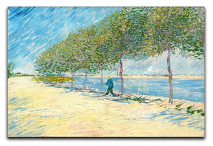 Along the Seine by Van Gogh Canvas Print or Poster  - Canvas Art Rocks - 1