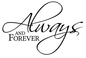 Always And Forever Wall Sticker - Canvas Art Rocks - 2