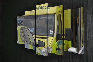 Ambulance and responder vehicles 5 Split Panel Canvas  - Canvas Art Rocks - 2