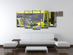 Ambulance and responder vehicles 5 Split Panel Canvas  - Canvas Art Rocks - 3