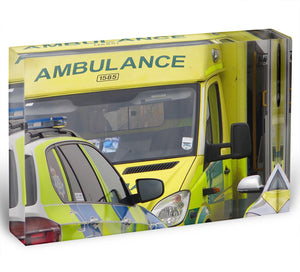 Ambulance and responder vehicles Acrylic Block - Canvas Art Rocks - 1