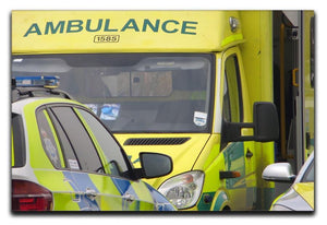 Ambulance and responder vehicles Canvas Print or Poster  - Canvas Art Rocks - 1