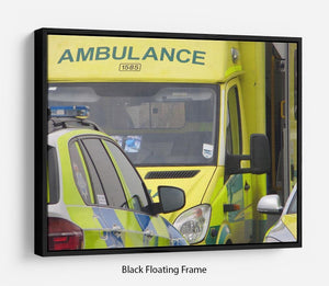 Ambulance and responder vehicles Floating Frame Canvas