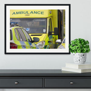 Ambulance and responder vehicles Framed Print - Canvas Art Rocks - 1