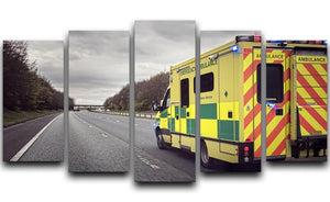 Ambulance responding to an emergency 5 Split Panel Canvas  - Canvas Art Rocks - 1
