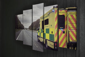 Ambulance responding to an emergency 5 Split Panel Canvas  - Canvas Art Rocks - 2