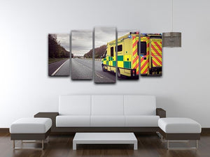 Ambulance responding to an emergency 5 Split Panel Canvas  - Canvas Art Rocks - 3