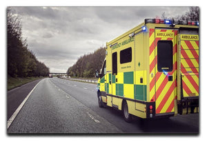 Ambulance responding to an emergency Canvas Print or Poster  - Canvas Art Rocks - 1
