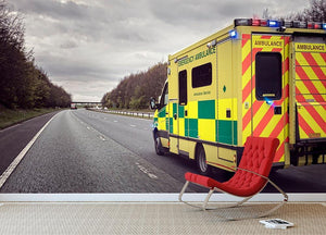 Ambulance responding to an emergency Wall Mural Wallpaper - Canvas Art Rocks - 2