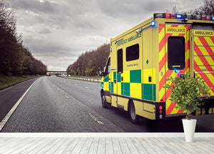 Ambulance responding to an emergency Wall Mural Wallpaper - Canvas Art Rocks - 4