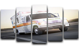 Ambulance running with lights and sirens 5 Split Panel Canvas  - Canvas Art Rocks - 1
