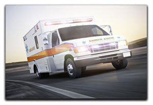Ambulance running with lights and sirens Canvas Print or Poster  - Canvas Art Rocks - 1