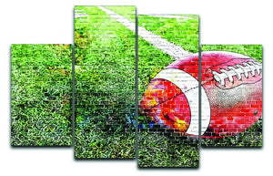 American Football 4 Split Panel Canvas  - Canvas Art Rocks - 1