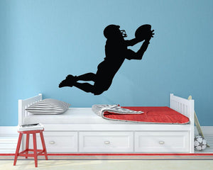 American Footballer Catch Wall Sticker - Canvas Art Rocks