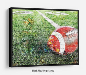 American Football Floating Frame Canvas