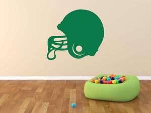 American Football Helmet Wall Sticker - Canvas Art Rocks