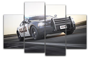American Police Car 4 Split Panel Canvas  - Canvas Art Rocks - 1
