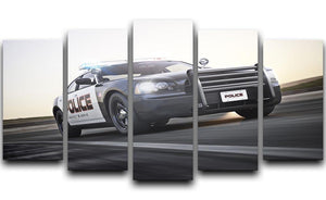 American Police Car 5 Split Panel Canvas  - Canvas Art Rocks - 1